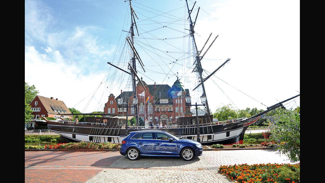 Audi A3 Sportback g-tron, Seitenansicht, Papenburg