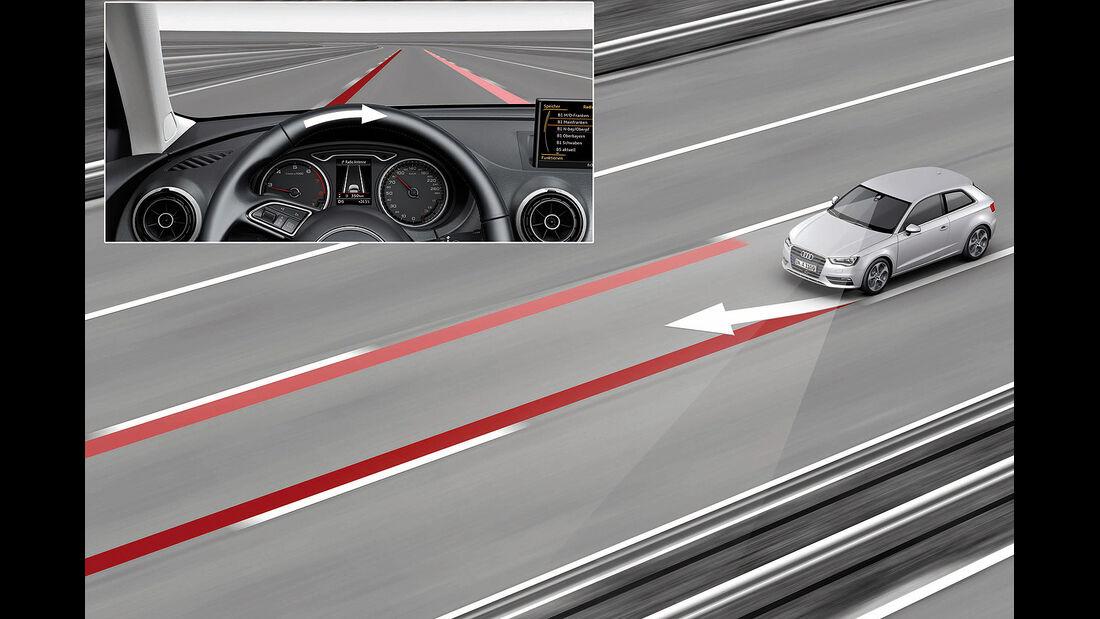Audi A3, Spurhalteassistent, Active Lane Assist