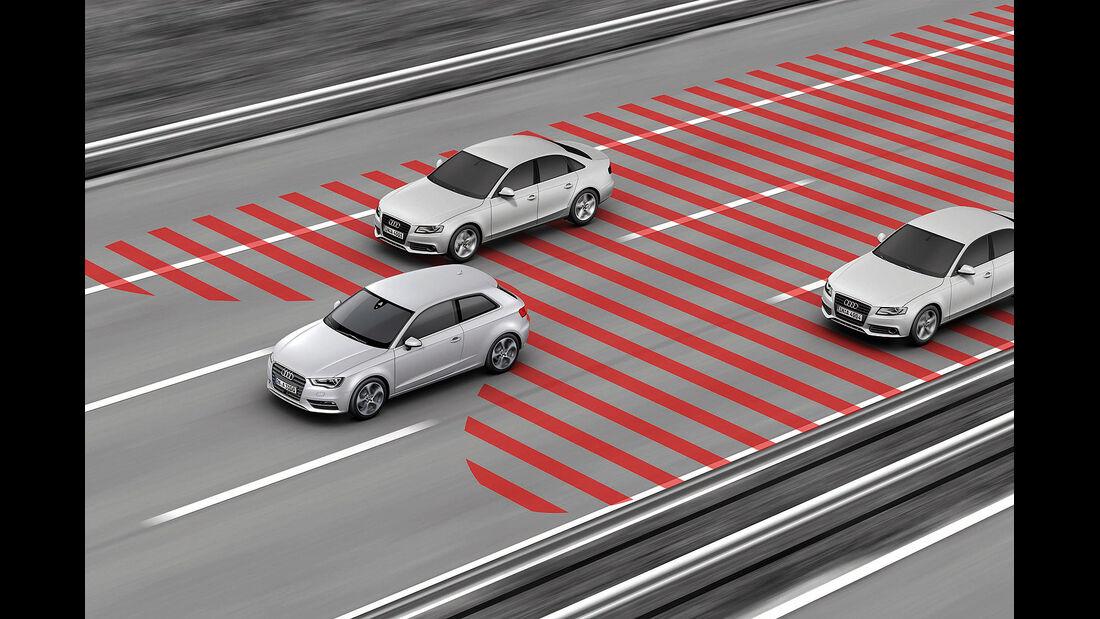 Audi A3, Spurwechselwarner, Side Assist