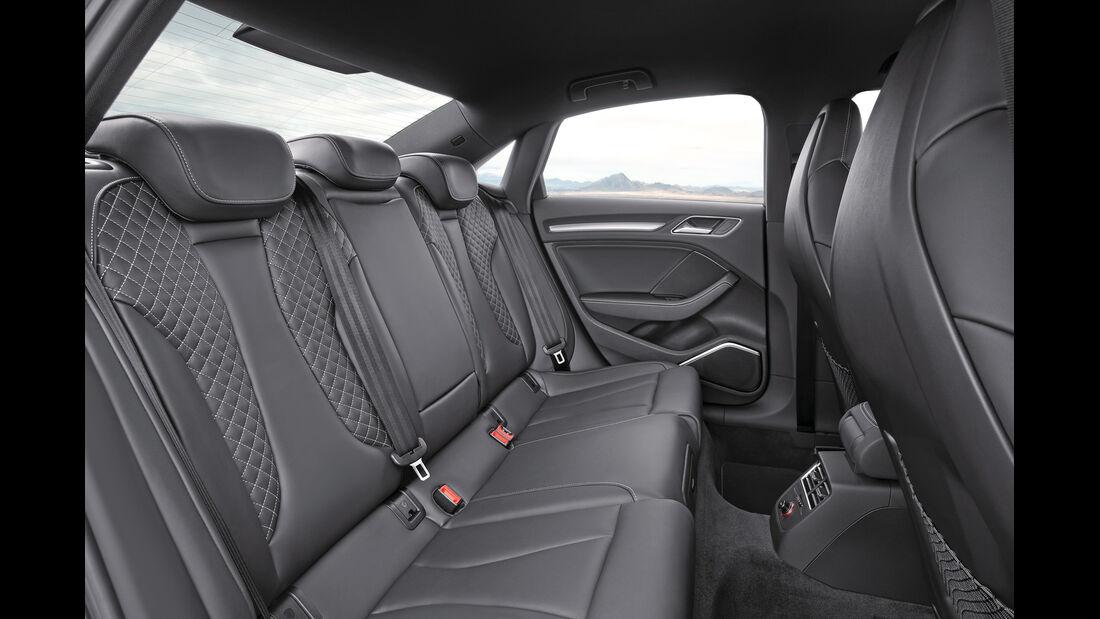 Audi A3 Stufenheck, Rücksitz, Beinfreiheit