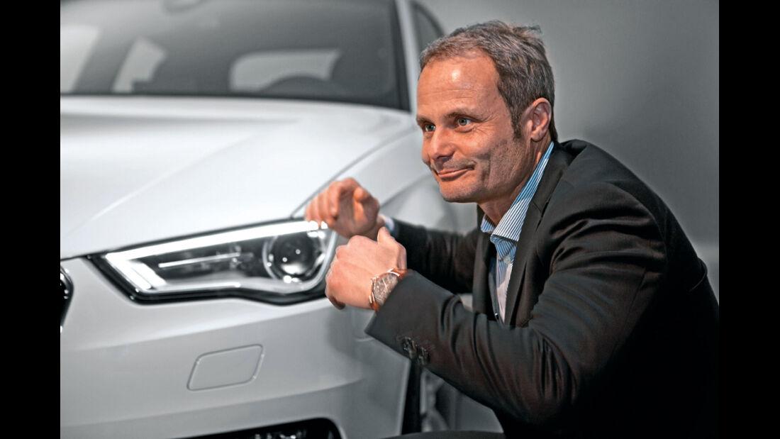 Audi A3, Wolfgang Egger, Frontscheinwerfer