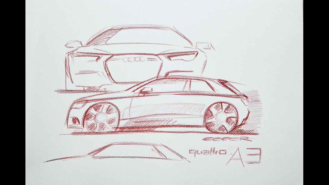 Audi A3, Zeichnung