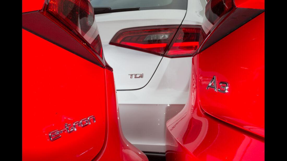 Audi A3 e-tron, Audi A3 2.0 TDI, Audi A3 1.8 TFSI,