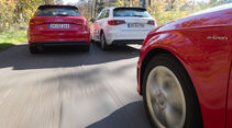 Audi A3 e-tron, Audi A3 2.0 TDI, Audi A3 1.8 TFSI, Heckansicht