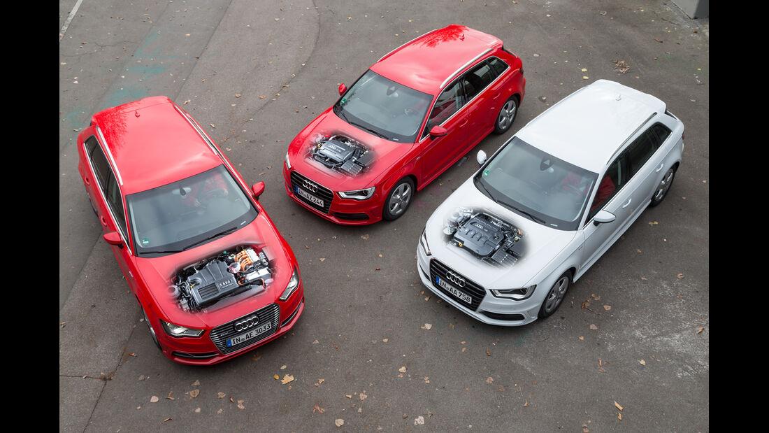 Audi A3 e-tron, Audi A3 2.0 TDI, Audi A3 1.8 TFSI, Motor