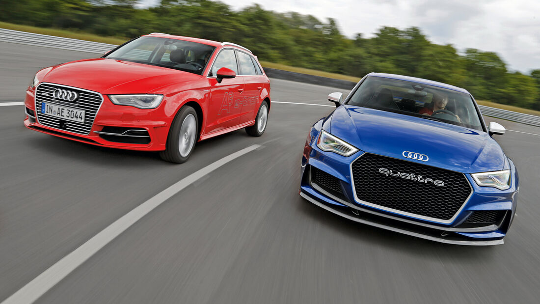 Audi A3 e-tron, Audi Clubsport Quattro Concept, Frontansicht