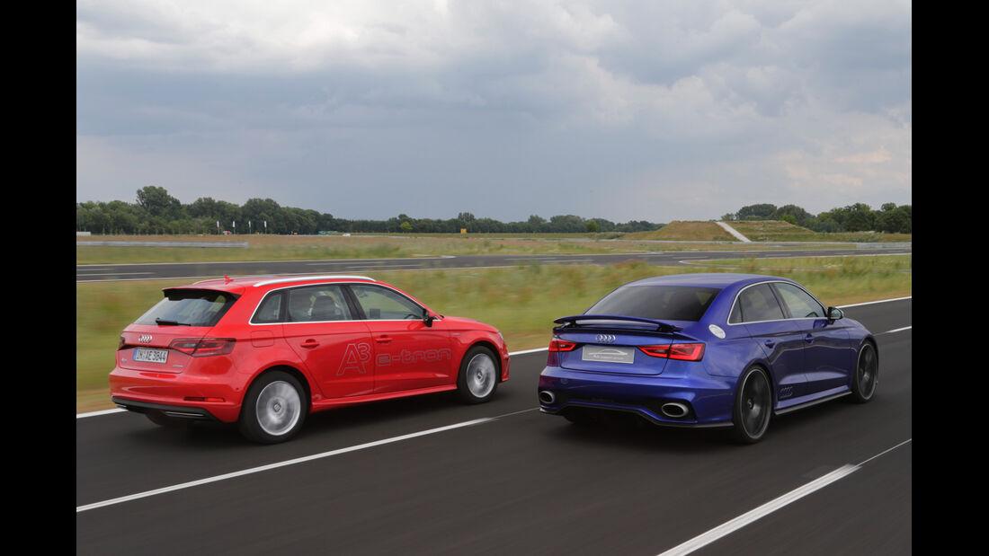 Audi A3 e-tron, Audi Clubsport Quattro Concept, Heckansicht