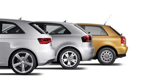 Audi A3, verschiedene Modelle, Heck