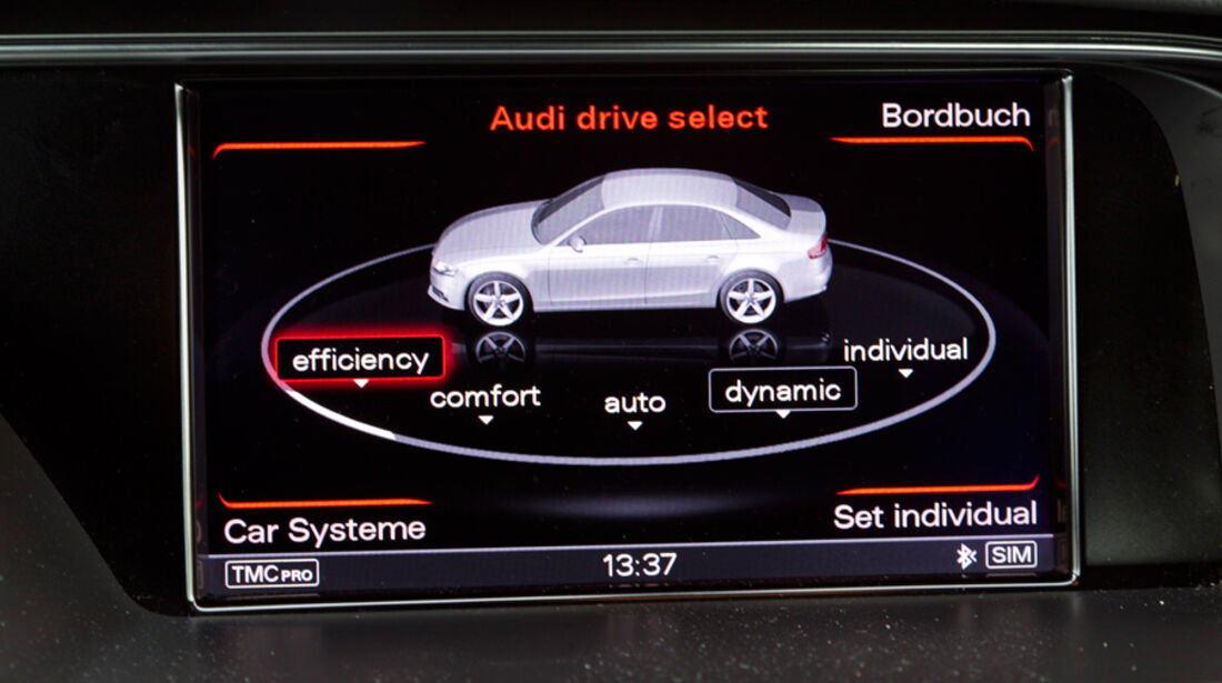 Audi A4 1.8 TFSI, Fahreinstellung, Bildschirm