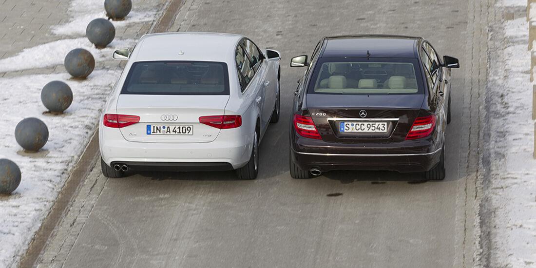 Audi A4 1.8 TFSI, Mercedes C 200