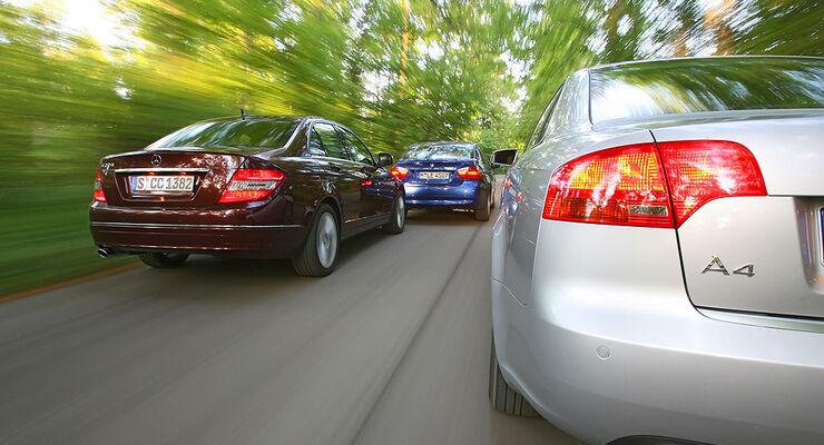 Audi A4 2.0 TDI, BMW 320d, Mercedes C 220 CDI