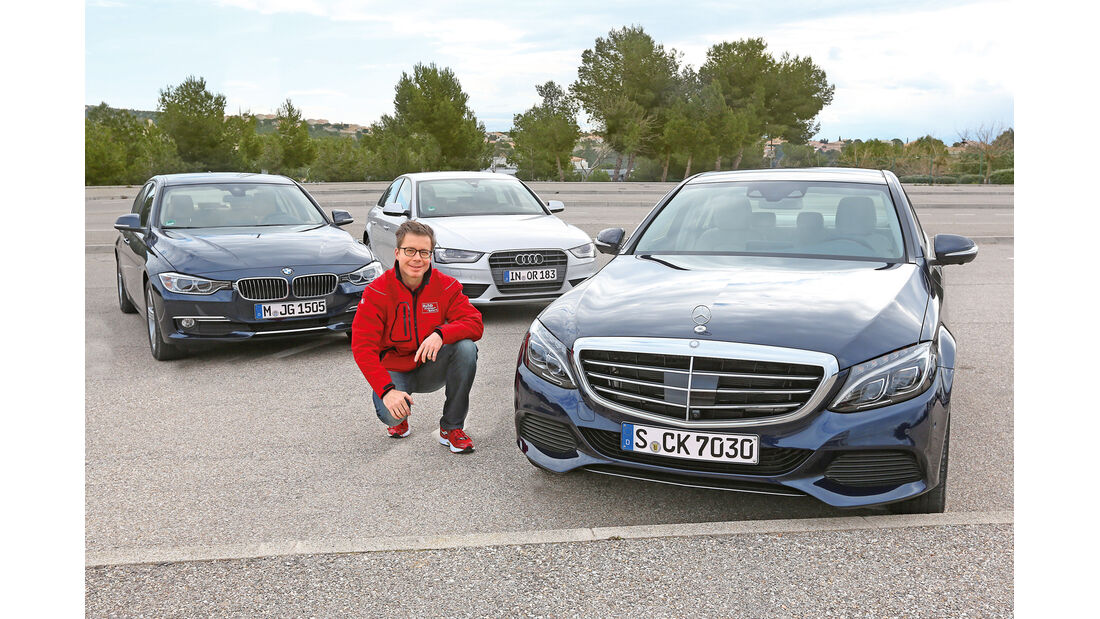 Audi A4 2.0 TDI, BMW 320d, Mercedes C 250 Bluetec, Dirk Gulde