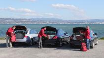 Audi A4 2.0 TDI, BMW 320d, Mercedes C 250 Bluetec, Kofferraum