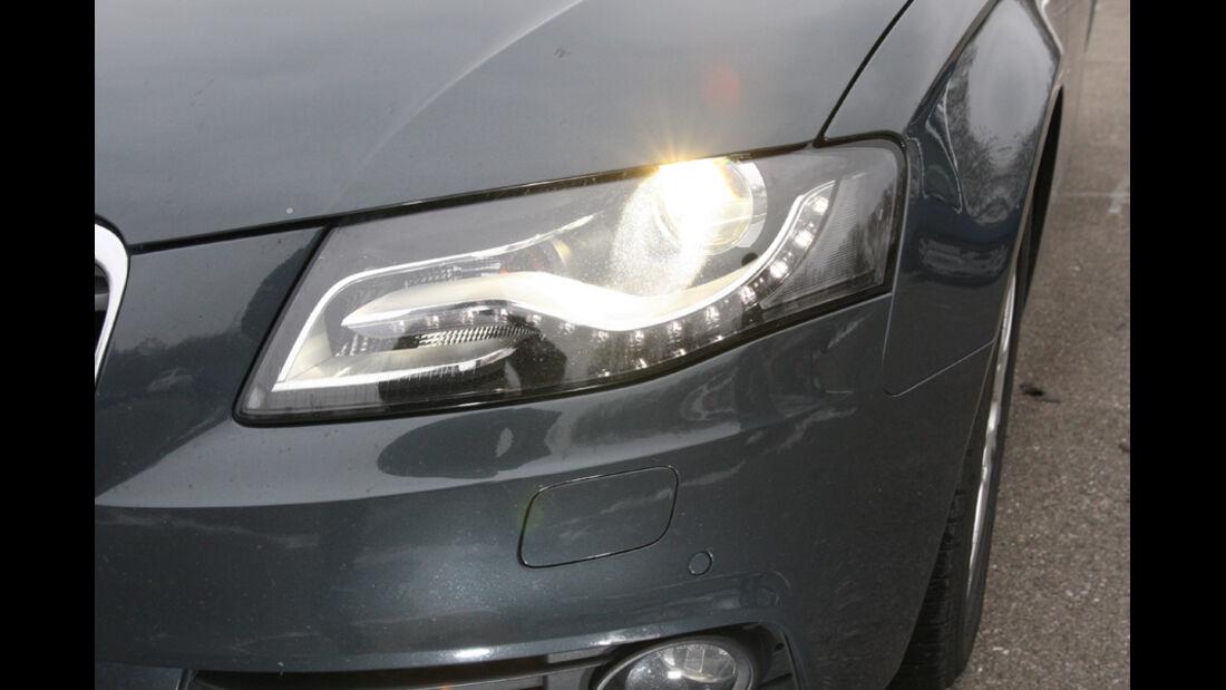 Audi A4 2.0 TDI, Detail, Frontscheinwerfer, Bixenon, Scheinwerfer