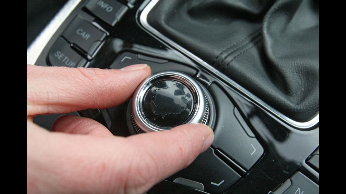 Audi A4 2.0 TDI, Detail, Knopf, Steuerelement