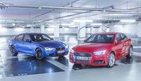 Audi A4 3.0 TDI Quattro, BMW 330d, Frontansicht