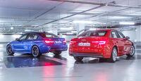 Audi A4 3.0 TDI Quattro, BMW 330d, Heckansicht