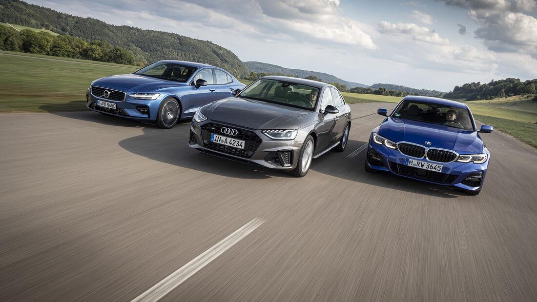 Audi A4 45 TFSI Quattro, BMW 330i, Volvo S60 T5, Exterieur
