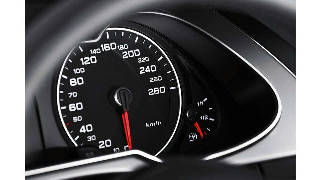 Audi A4 Allroad Quattro, Innenraum, Tacho