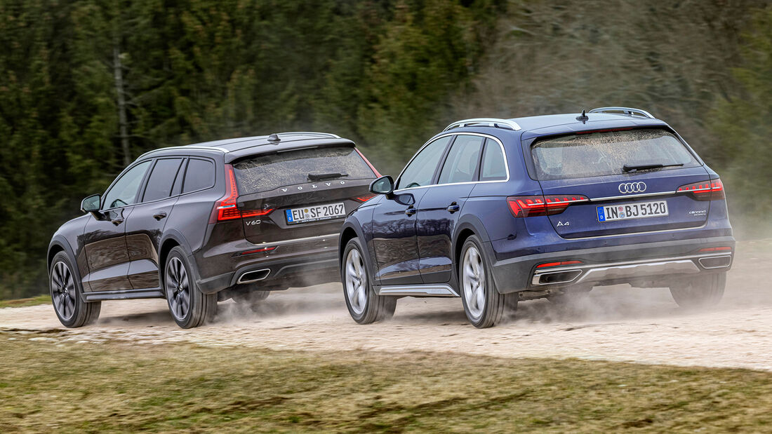 Audi A4 Allroad, Volvo V60 Cross Country, Exterieur