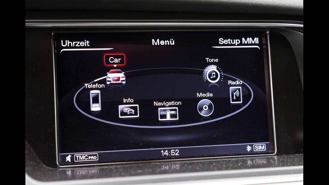 Audi A4 Avant 2.0 TDI Ambition, Bordcomputer, Bildschirm