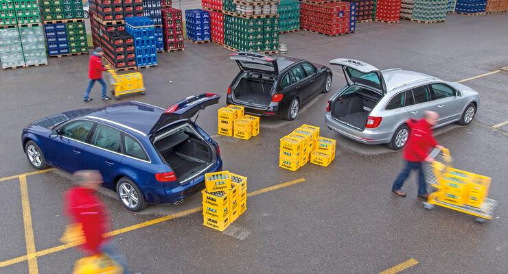 Audi A4 Avant 2.0 TDI, BMW 318d Touring, Skoda Superb Combi 2.0 TDI