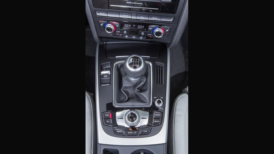 Audi A4 Avant 2.0 TDI, Mittelkonsole, Schalthebel
