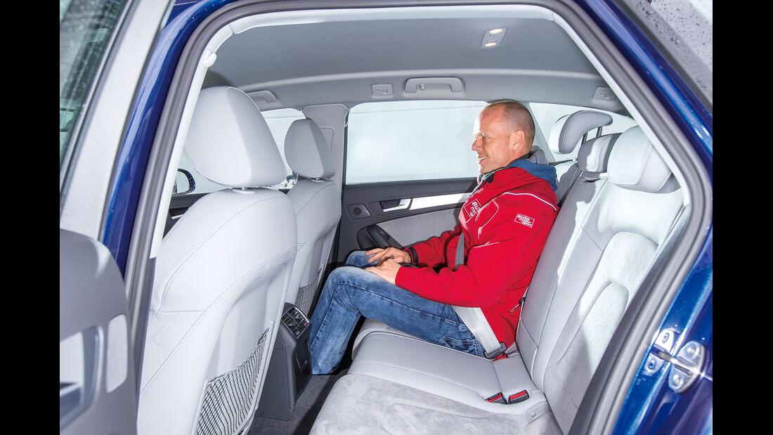 Audi A4 Avant 2.0 TDI, Rücksitz, Beinfreiheit