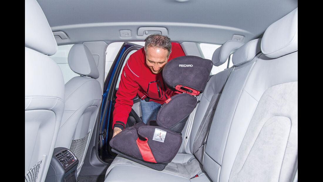 Audi A4 Avant 2.0 TDI, Rücksitz, Kindersitz
