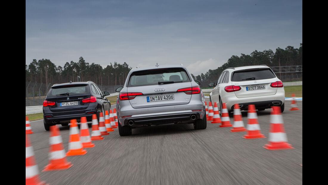 Audi A4 Avant 2.0 TFSI, BMW 320i Touring, Mercedes C 200 T