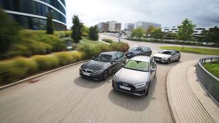 Audi A4 Avant 40 TDI Quattro, BMW 320d Touring, Mercedes C 220 d T, Volvo V60 D4 AWD, Exterieur