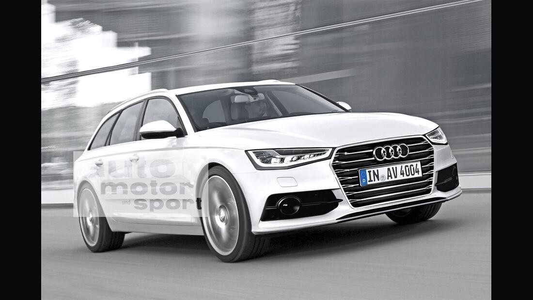 Audi A4 Avant, Frontansicht