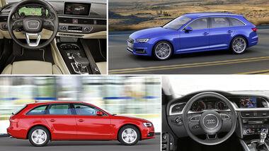 Audi A4 B9 neu B8 alt im Vergleich