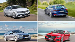 Audi A4, BMW 3er, Mercedes C-Klasse, VW Passat