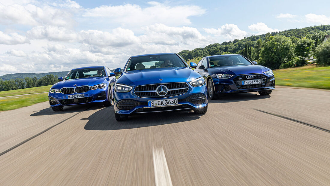 Audi A4, BMW Dreier, Mercedes C-Klasse