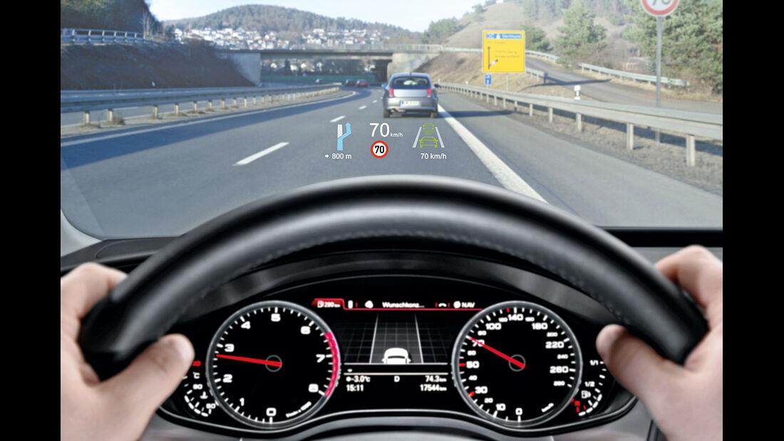 Audi A4, Head-up-Display