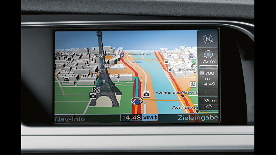 Audi A4 Kaufberatung, MMI Navigationssystem Plus