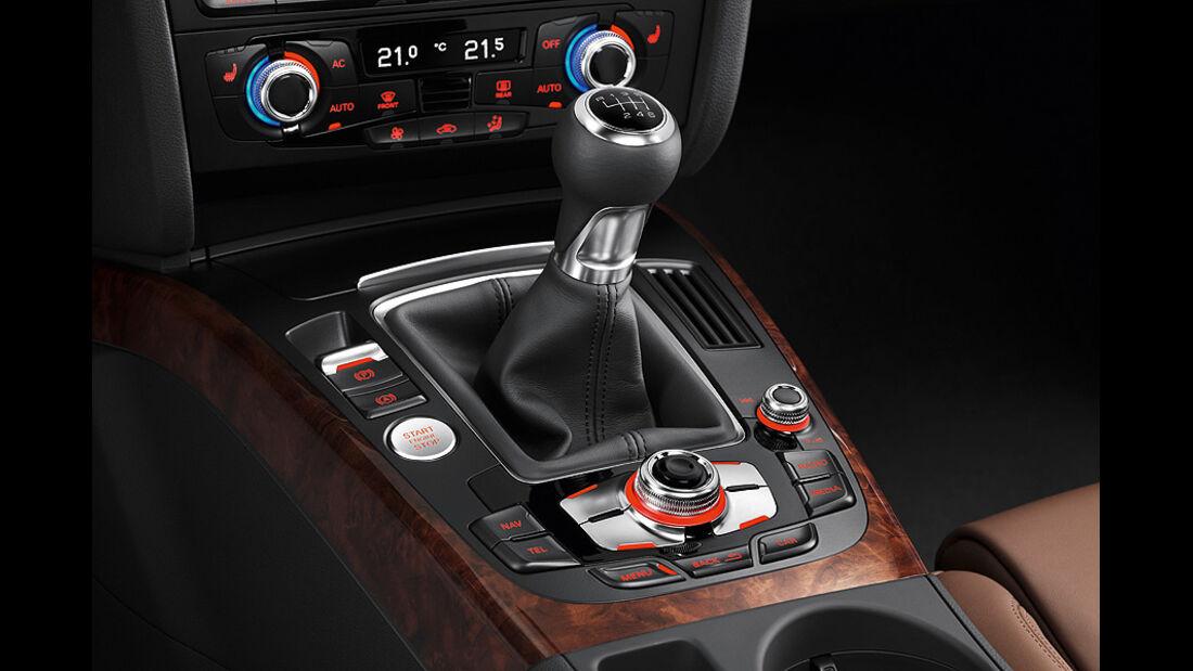 Audi A4, Mittelkonsole, Schalthebel