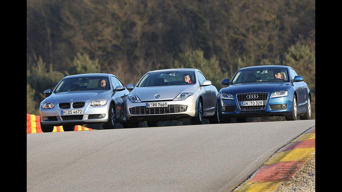 Audi A5 2.0 TFSI, BMW 320i Coupé, Renault Laguna Coupé GT