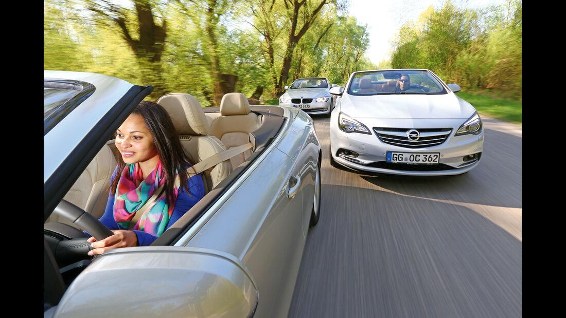 Audi A5 2.0 TFSI Cabrio, BMW 320i Cabrio, Opel Cascada 1.6 SIDI Turbo, Front