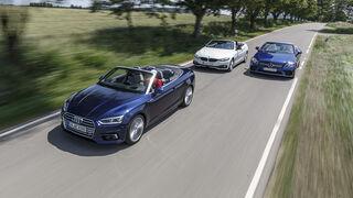 Audi A5 40 TDI Cabrio, BMW 420d Cabrio, Mercedes C 220 d Cabrio, Exterieur