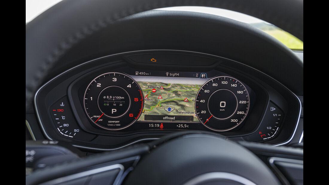 Audi A5 40 TDI Cabrio, Instrumente