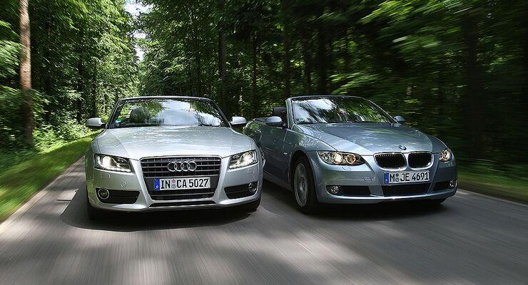 Audi A5, BMW 320d Cabrio