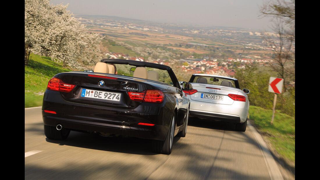 Audi A5 Cabrio, BMW Vierer Cabrio, Heckansicht
