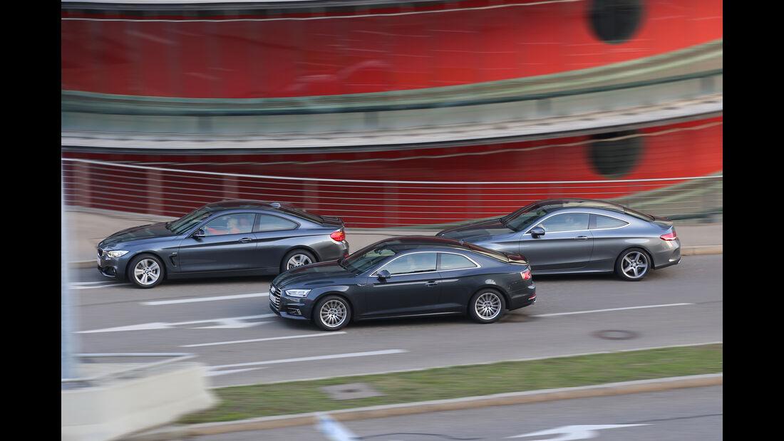 Audi A5 Coupé 2.0 TDI, BMW 420d Coupé, Mercedes C 250 d Coupé