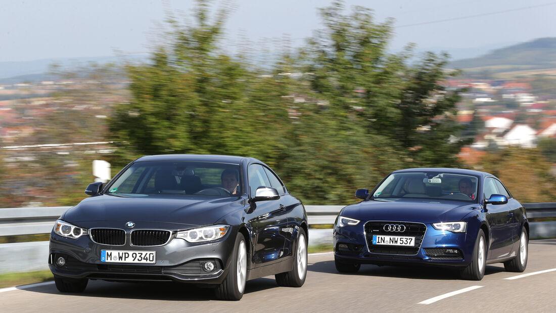 Audi A5 Coupé 2.0 TDI Quattro, BMW 420d, Frontansicht