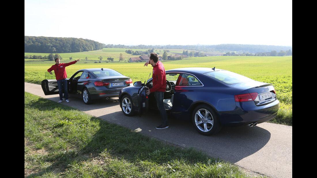 Audi A5 Coupé 2.0 TDI Quattro, BMW 420d, Seitenansicht