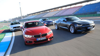 Audi A5 Coupé, BMW 430i Coupé, Chevrolet Camaro, Ford Mustang