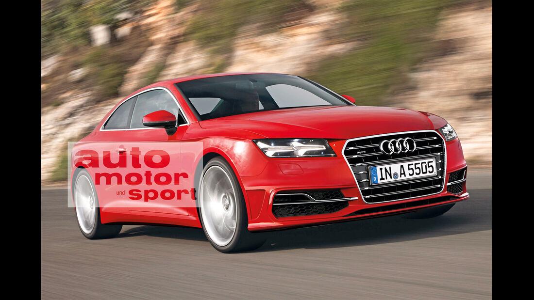 Audi A5 Coupé, Frontansicht