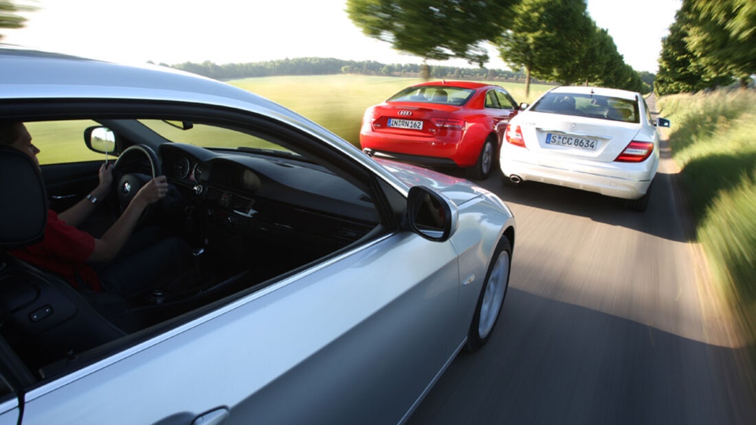 Audi A5 Coupe, BMW 325i Coupe, Mercedes C 250 Coupe